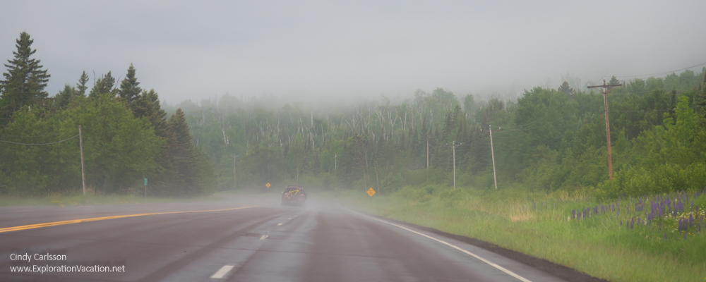 rain along Minnesota Highway 61