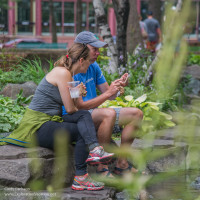 couple in Mears Park St Paul