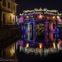 Ancient Japanese bridge at night - PlayingWithPhotography