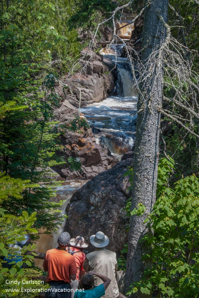 Cascade Falls with photographers