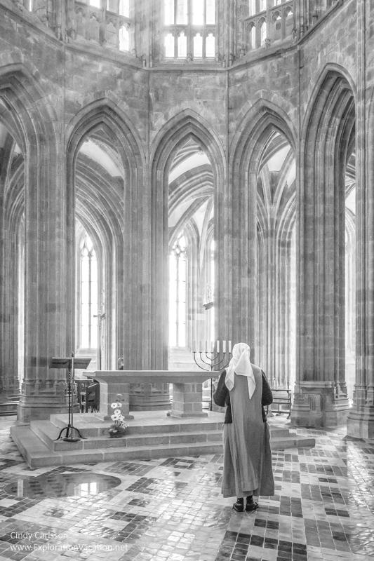 Preparing for worship Mont St Michel - Cindy Carlsson