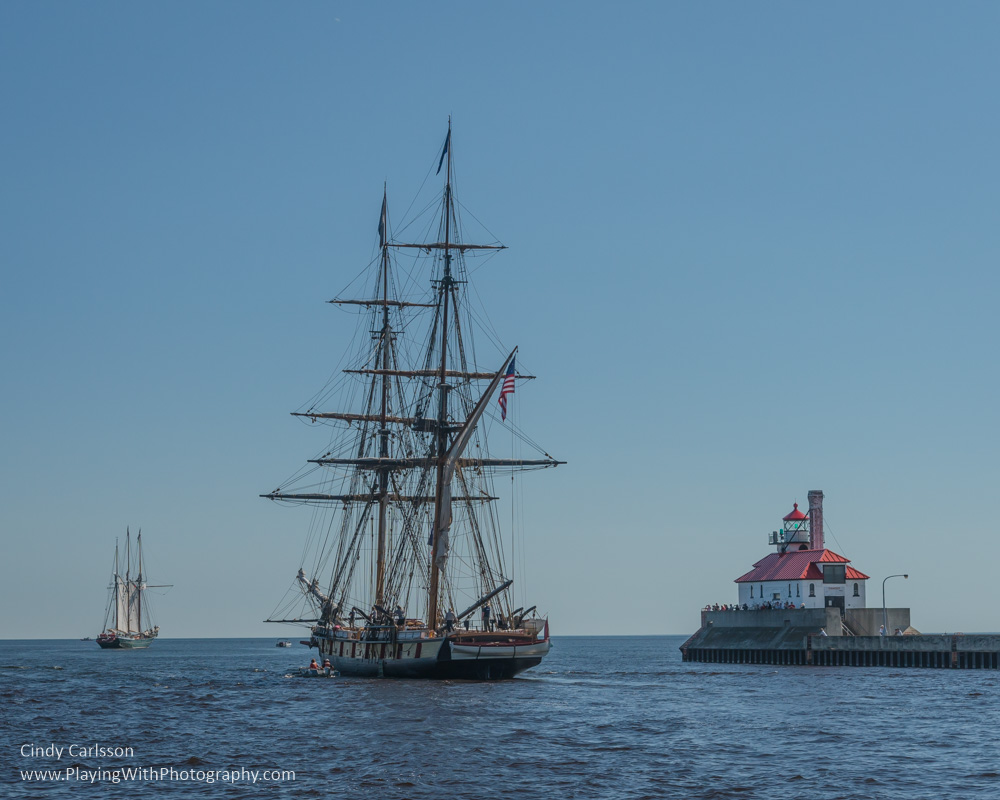 tall ships leaving Duluth harbor - original edit
