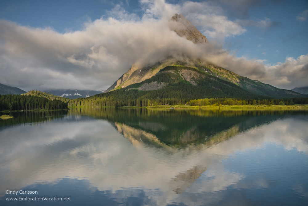 Sunrise at Swiftcurrent Lake Glacier National Park - PlayingWithPhotography