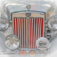 details of cars at Back to the 50s in Minnesota