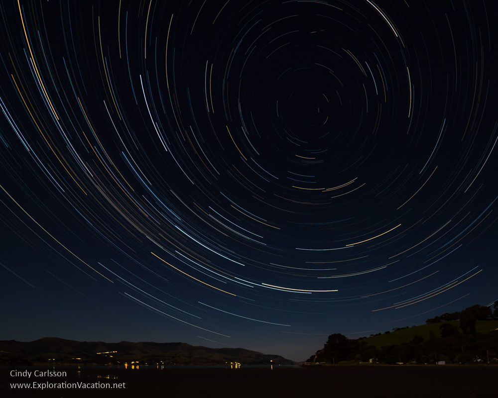 Star trails on the Banks Peninsula - Cindy Carlsson