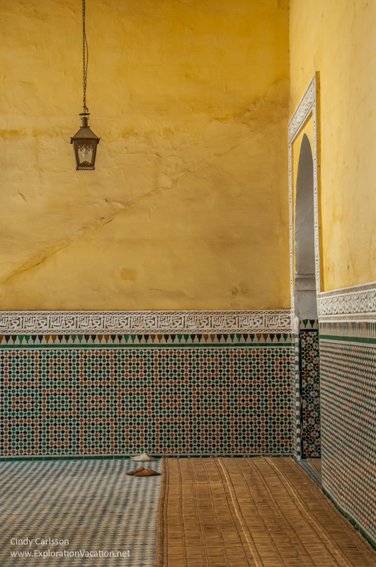 Inner courtyard Mausoleum of Moulay Ismail - www.playingwithphotography.com